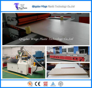 WPC Indoor Decorative Ceiling Board Production Line / WPC Manufacturing Machinery Plant pictures & photos