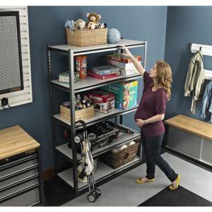 Customized Angle Iron Shelf, Boltless Rivet Shelf / Light Duty Display Shelf Rack pictures & photos