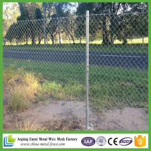 5*5cm Mesh Fencing Commercial Galvanized Chain Link Fencing with Barbed Wire pictures & photos