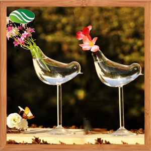 Bird Shape Glass Vase Garden Decoration pictures & photos