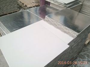 2014 New Design PVC Laminated Gypsum Ceiling Tile/ Board with Aluminium Foil Back pictures & photos