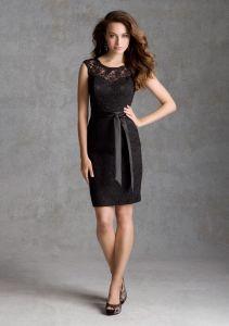 Lace Belt Bridesmaid Fashion Dresses (FD14009) pictures & photos
