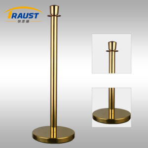 Golden Traditional Post & Velvet Rope with Crown Top (RP-35F Gold) pictures & photos
