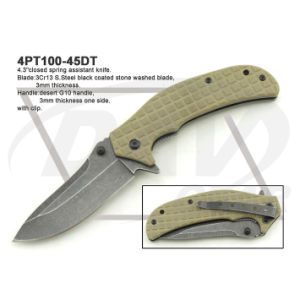 """4.5""""Closed Black Handle Tactical Fixed Blade Knife: 4PT115-45bk pictures & photos"""