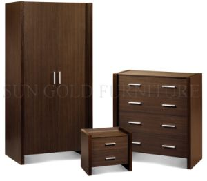 Modern Simple Cheap Walnut Bedroom Wardrobe Set Furniture (SZ-WD030) pictures & photos