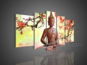 Handmade Buddha Oil Painting on Canvas for Decor (BU-011) pictures & photos