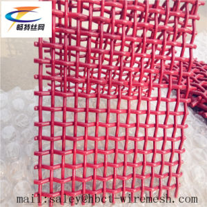 Red 65mn Crimped Metal Mesh pictures & photos