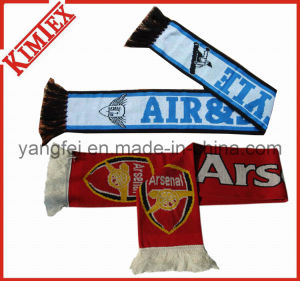 100% Acrylic Jacquard Soccer Football Fans Scarf pictures & photos