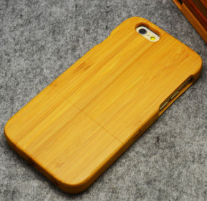 High-End Luxury Custom Real Wood Mobile Phone Cover Case for iPhone 6/6s Bamboo Blank Cell Phone Case pictures & photos