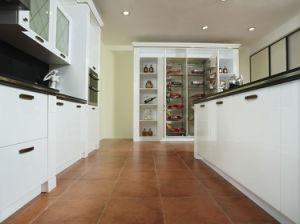 High Quality White PVC Modular Kitchen (zc-013) pictures & photos