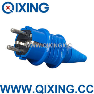 Qixing IEC 603 Plastic 16AMP 220-250V Blue Schuko Plug pictures & photos