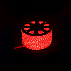 led rope light round 2 wires red for christmas decoration pictures & photos