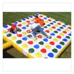 Mixed Color Dots 11*9 Lines Inflatable Twister Bed
