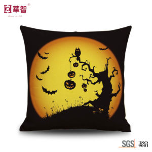 Halloween Style Digital Printing Cushion Cover pictures & photos