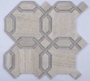 Waterjet Marble Glass Mosaic pictures & photos