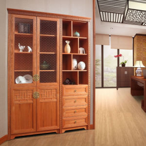 Oppein Chinese Style Oak Solid Wood Bookcase (SG21314) pictures & photos