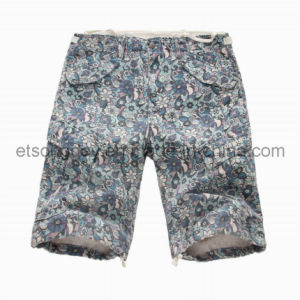 Printed 100% Cotton Men′s Shorts with Flower (MBM2128) pictures & photos