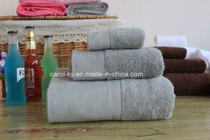Cotton Dobby Border Hotel Bath Towel Hand Towel pictures & photos
