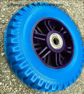 High Density Reclaimed Rubber Made Solid Wheel pictures & photos