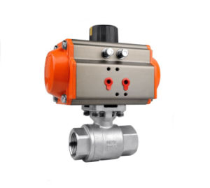 Pneumatic 2PC Ball Valve Screwed Ends pictures & photos