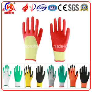 High Quality Latex Gloves with Crinkle Finish