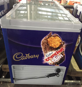 Ice Cream Chest Display Freezer with Top Open Tempered Glass Door (SD-250) pictures & photos