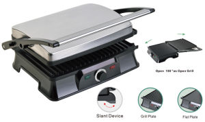 4-Slice Press Grill Panini Maker Healthy Grill Low Fat Grills pictures & photos