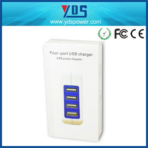 EU Plug Portable 4 Ports Travel Wall Mobile Phone Charger pictures & photos