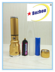 Zoomable Aluminum Brightest Cheap Rechargeable Torch pictures & photos