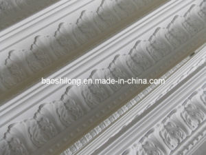 Pure White PU Carved Cornices Molding Oy-9040