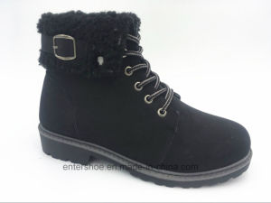 Brown Color Injection Women′s Boots with PU Upper (ET-XK160214W) pictures & photos