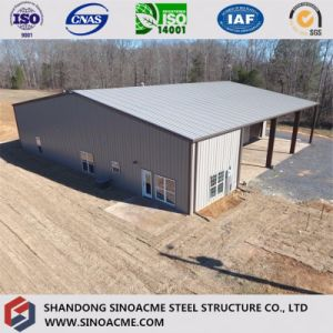 Prefab Light Steel Structure Workshop with Office pictures & photos