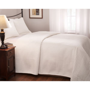 Quilted King Size White Coverlet