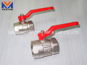 Brass Ball Valve with Brass Original Color/ Nickel Plated pictures & photos