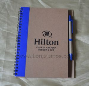 Hilton Promotional Eco Gift Recycled Paper Spiral Coil Notebook pictures & photos