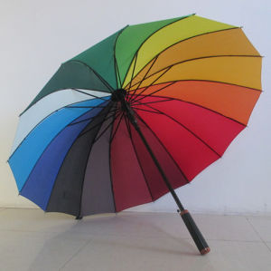 23′′ X 16k Straight Handle Rainbow Umbrella (YSS019B) pictures & photos