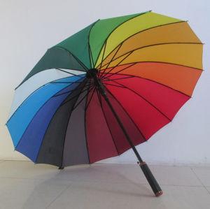 Factory Supply Colorful/Rainbow Durable Straight Umbrella (YSS019B)