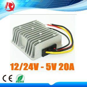 DC 12V 24V to 5V 20A 100W Car LED Display Power Supply Buck Voltage Regulator pictures & photos