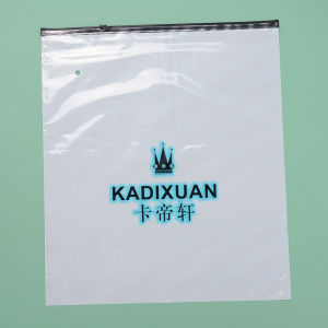 PVC Zipper Plastic Packaging Bag, PVC Resealable Bag with Slider
