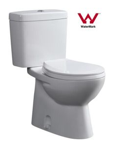 Simple Style Australian Standard China Supplier Sanitary Ware Watermark Bathroom Washdown Two Piece Ceramic Toilet (555) pictures & photos