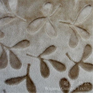 Embossed Velvet Short Pile Velour Cloth for Textile pictures & photos