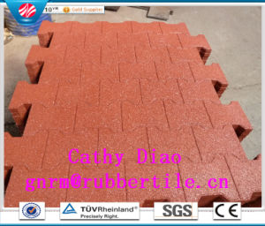 Supply Colorful Rubber Floor Tiles, Playground  Rubber  Tiles Outdoor  Rubber  Tile Recycle Rubber Tile Gym Rubber Tile pictures & photos