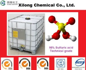 Low Price Industrial Grade 98% Sulfuric Acid 1000L IBC pictures & photos