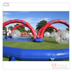 2016 New Arrival Custom Made Inflatable Zorb Racer Track