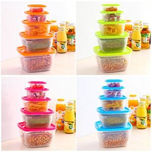 5 in 1 Plastic Preservation PP Easy to Wash and Dry Safe Healthy Can Be Used Formicrowave Box Food Container pictures & photos