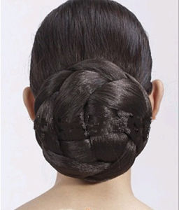 Fashion Girl′s Hair Bun Wig Extensions Hair Pieces
