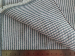 Grey Stripe Oxford 125GSM 100% Cotton Yarn Dyed Fabric pictures & photos