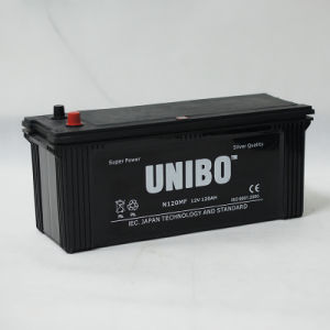 JIS Standard Maintenance Free N120 12V120ah High Performance Car Battery pictures & photos