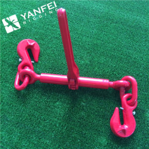 En12195-3 G80 Ratchet Type Load Binder with Grab Hook for Chain pictures & photos