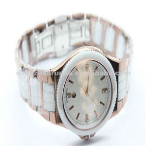 2013 Fashion Watches, White Ceramic Watches (RD-N0011)
